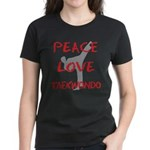 Peace Love Taekwondo Women's Dark T-Shirt