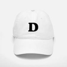 Large Letter D Baseball Baseball Cap