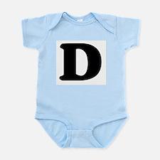 Large Letter D Infant Creeper
