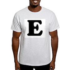 Large Letter E Ash Grey T-Shirt