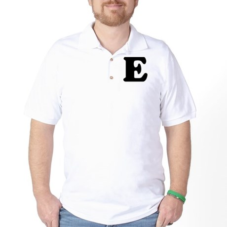 Large Letter E Golf Shirt
