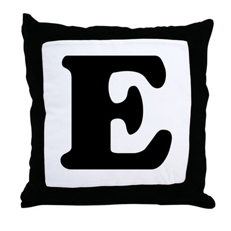 Large Letter E Throw Pillow