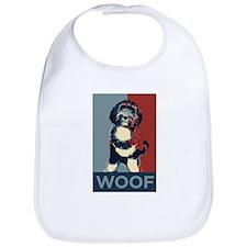 WOOF! Bo The First Dog Bib