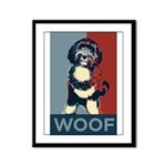 WOOF! Bo The First Dog Framed Panel Print