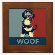 WOOF! Bo The First Dog Framed Tile