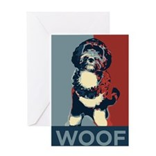 WOOF! Bo The First Dog Greeting Card