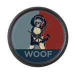 WOOF! Bo The First Dog Large Wall Clock
