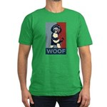 WOOF! Bo The First Dog Men's Fitted T-Shirt (dark)