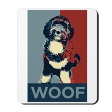 WOOF! Bo The First Dog Mousepad
