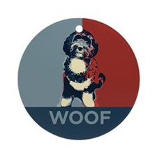WOOF! Bo The First Dog Ornament (Round)