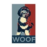 WOOF! Bo The First Dog Rectangle Sticker 50 pk)