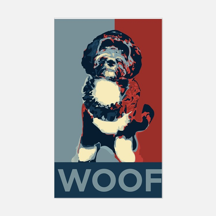WOOF! Bo The First Dog Rectangle Decal
