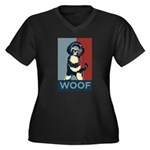 WOOF! Bo The First Dog Women's Plus Size V-Neck Da