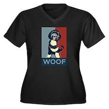 WOOF! Bo The First Dog Women's Plus Size V-Neck Da