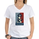 WOOF! Bo The First Dog Women's V-Neck T-Shirt