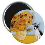 Sunflowers / Rat Terrier Magnet