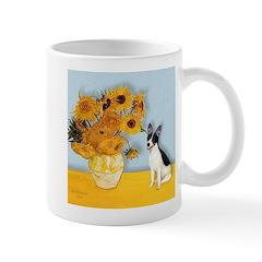 Sunflowers / Rat Terrier Mug