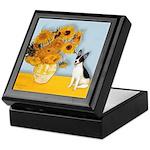 Sunflowers / Rat Terrier Keepsake Box