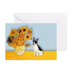 Sunflowers / Rat Terrier Greeting Cards (Pk of 20)