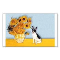 Sunflowers / Rat Terrier Decal