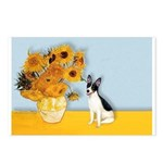 Sunflowers / Rat Terrier Postcards (Package of 8)
