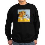 Sunflowers / Rat Terrier Sweatshirt (dark)