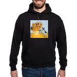 Sunflowers / Rat Terrier Hoodie (dark)