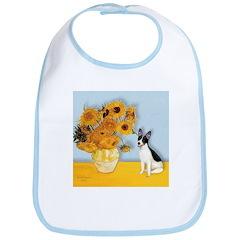 Sunflowers / Rat Terrier Bib