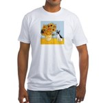 Sunflowers / Rat Terrier Fitted T-Shirt
