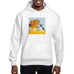 Sunflowers / Rat Terrier Hooded Sweatshirt