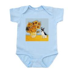 Sunflowers / Rat Terrier Infant Bodysuit