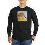Sunflowers / Rat Terrier Long Sleeve Dark T-Shirt