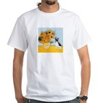Sunflowers / Rat Terrier White T-Shirt