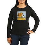 Sunflowers / Rat Terrier Women's Long Sleeve Dark