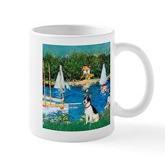 Sailboats / Rat Terrier Mug