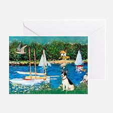 Sailboats / Rat Terrier Greeting Card