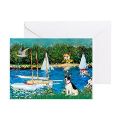 Sailboats / Rat Terrier Greeting Cards (Pk of 20)