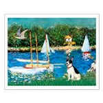 Sailboats / Rat Terrier Small Poster