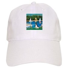 Sailboats / Rat Terrier Baseball Cap