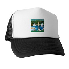 Sailboats / Rat Terrier Trucker Hat