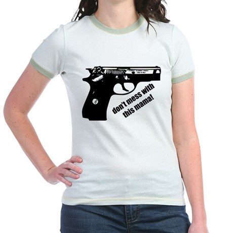 Don't Mess With This Mama! Jr. Ringer T-Shirt