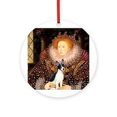 Queen / Rat Terrier Ornament (Round)