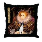 Queen / Rat Terrier Throw Pillow