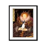 Queen / Rat Terrier Framed Panel Print