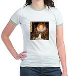Queen / Rat Terrier Jr. Ringer T-Shirt