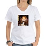 Queen / Rat Terrier Women's V-Neck T-Shirt
