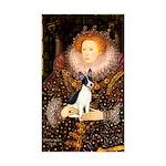 Queen / Rat Terrier Sticker (Rectangle 50 pk)