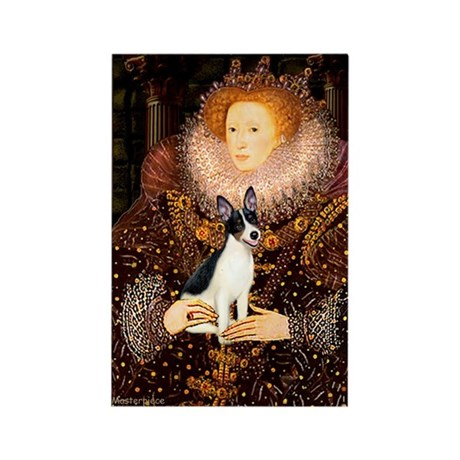 Queen / Rat Terrier Rectangle Magnet (10 pack)