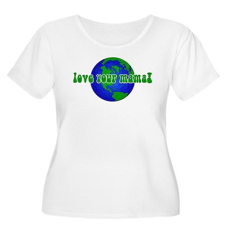 Your Mama Women's Plus Size Scoop Neck T-Shirt