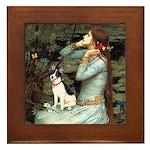 Ophelia / Rat Terrier Framed Tile